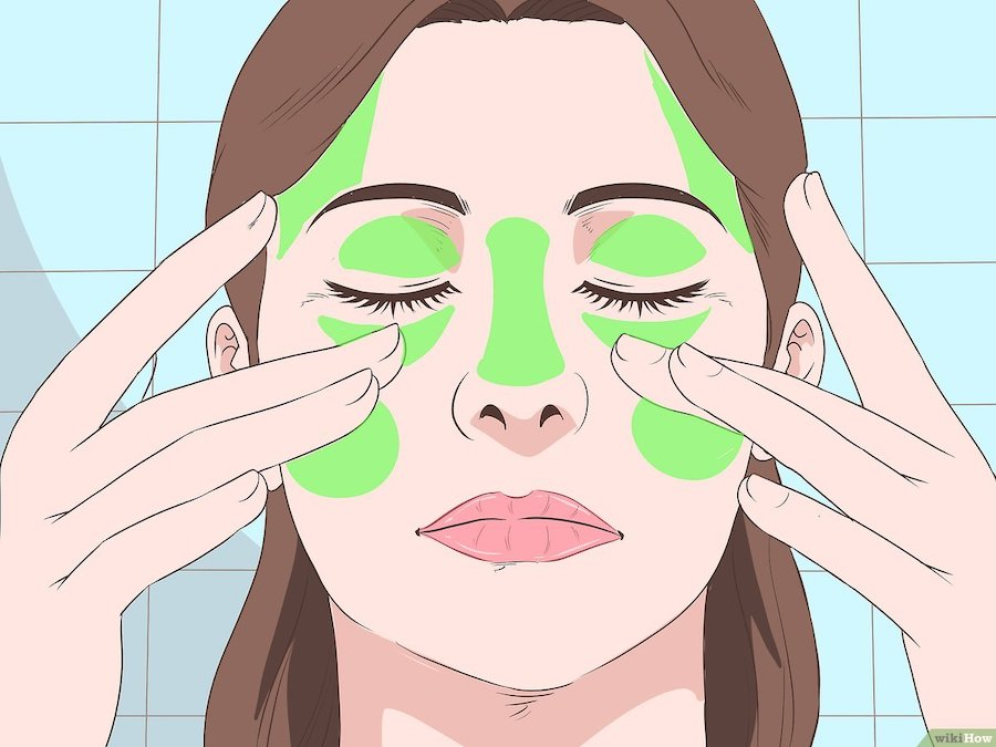 Masaje de la cara y los ojos