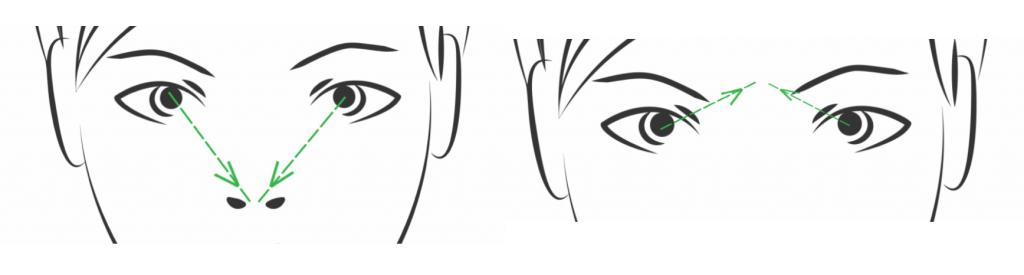 Yoga ocular: arriba y abajo