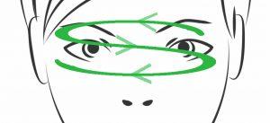 Yoga ocular: movimiento en forma de S